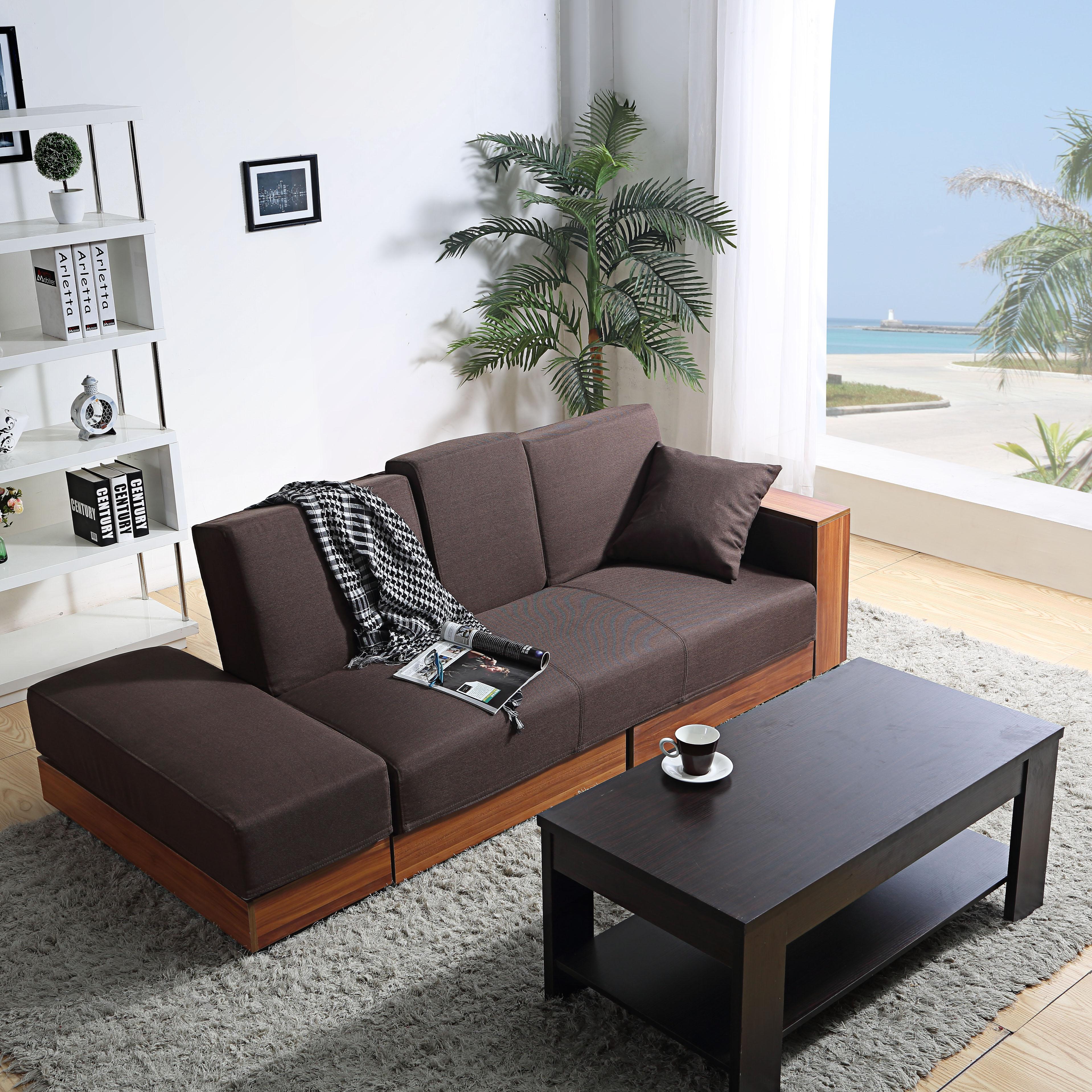 Το μικρό μέγεθος του καναπέ κρεβάτι τρία άτομα πτυσσόμενου αποθήκευση γιαπωνέζικο πολυλειτουργική διπλής χρήσης λατέξ καναπέ - κρεβάτι να μπορούν να πλένονται