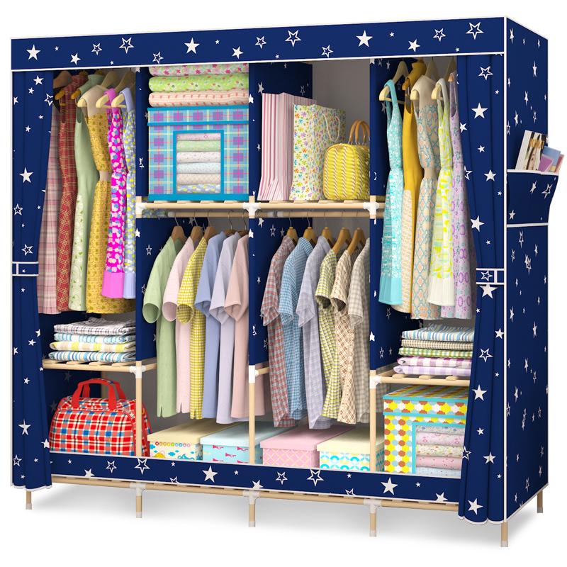 Armoire de stockage de tissu double ensemble simple de type économique moderne d'assemblage de porte coulissante de la Chambre en bois massif d'enfants.