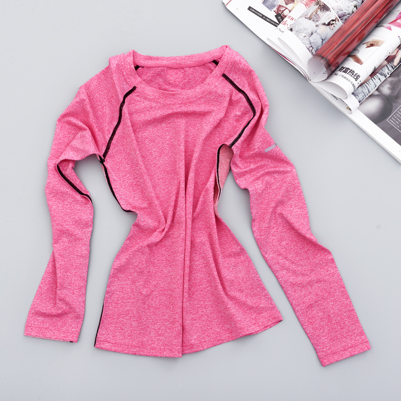 Big fat MM200 Jin, female loose sleeve, long sleeve yoga clothes, autumn fitness jacket, summer running T-shirt training
