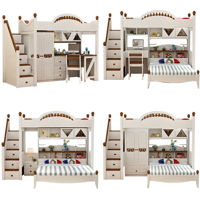 Guarda - roupa Infantil beliche com mesa multifuncional CAMA CAMA de meninos e Meninas Na CAMA beliche - Chuang Zi