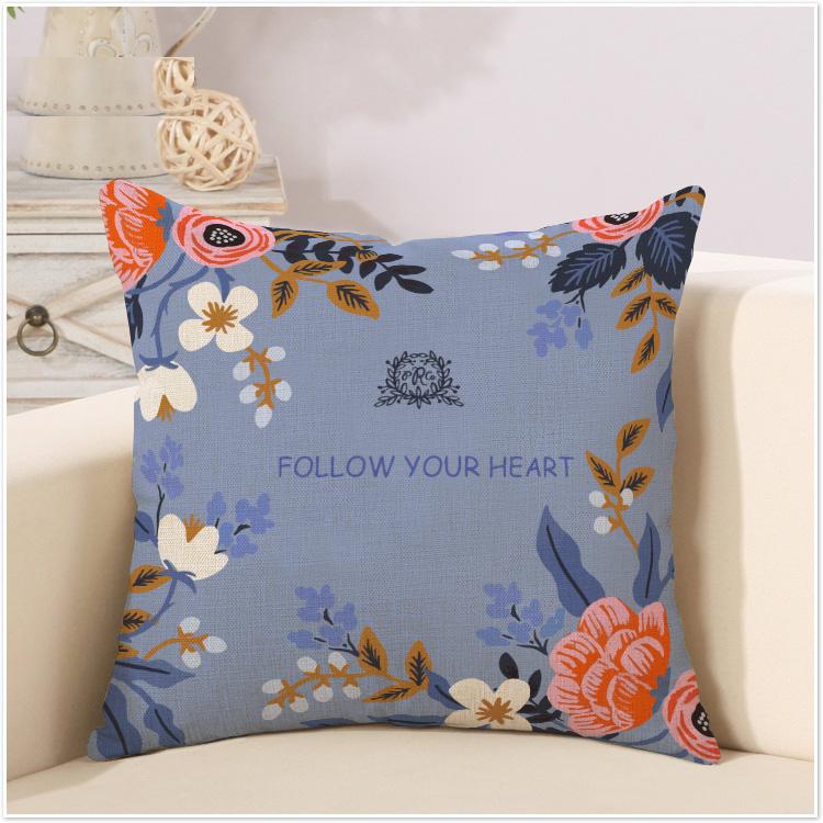 小さな布バッグオフィスクッション清新でソファベッドの枕クッション田園麻綿アメリカンカントリーイケア