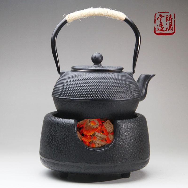 котел ветер печь печь бытовой уголь Древесный уголь, отопление котел чайный сервиз чугун чайник японский уголь печь алкоголь печи для приготовления