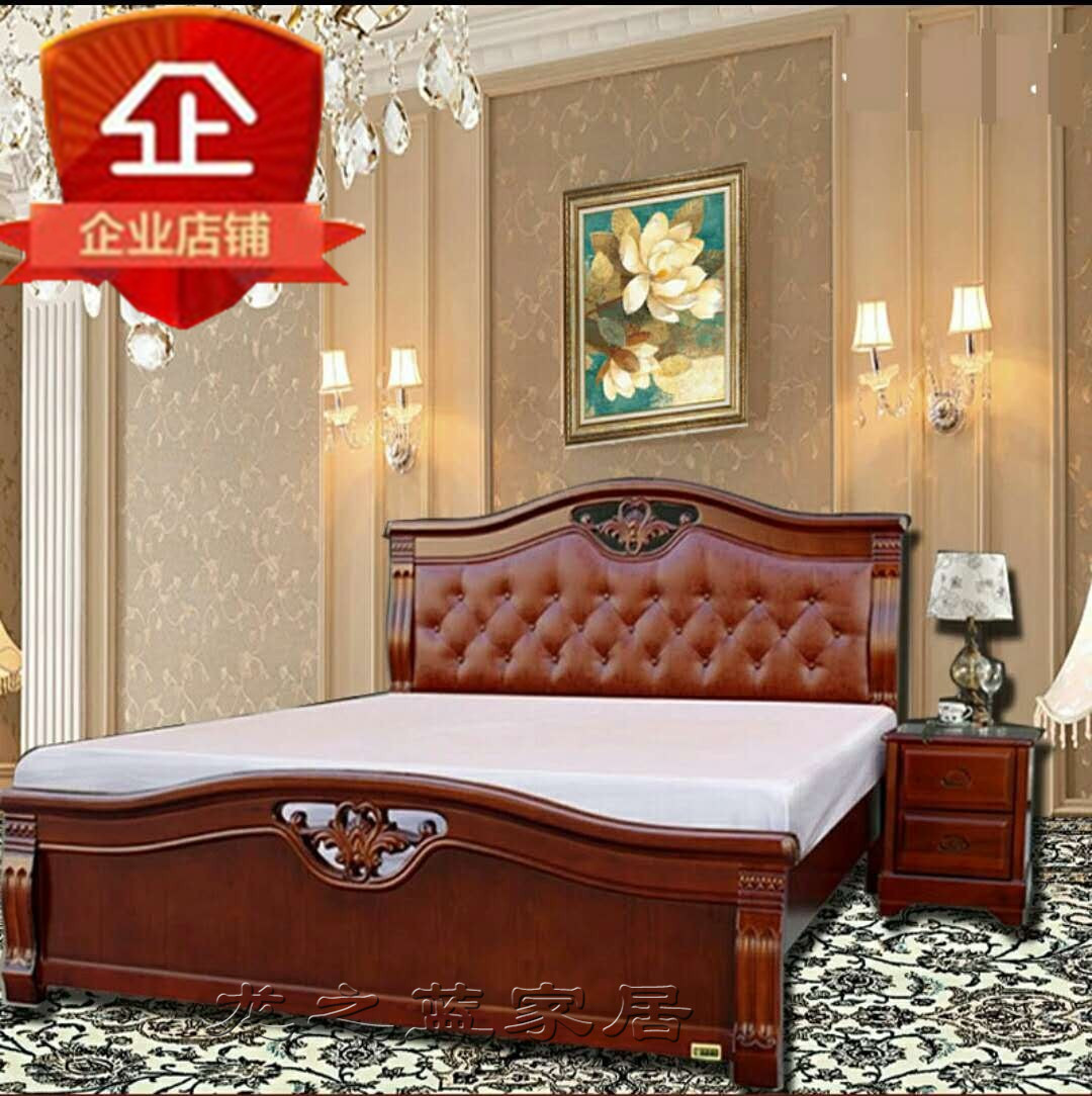 Solid wood bed, double bed storage bed, oak high box, simple modern Chinese style, 1.8 meter wedding bed, master bedroom 1.5 economy type