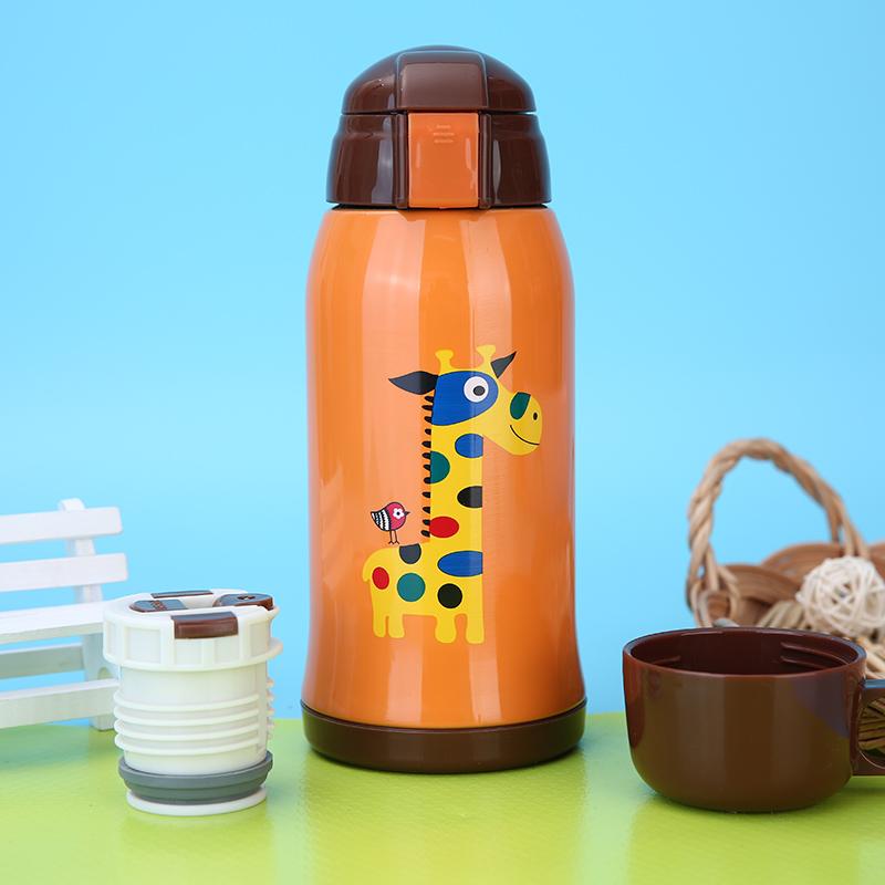 儿童保温杯带吸管杯子双盖多用男女学生杯壶便携防漏冬季款