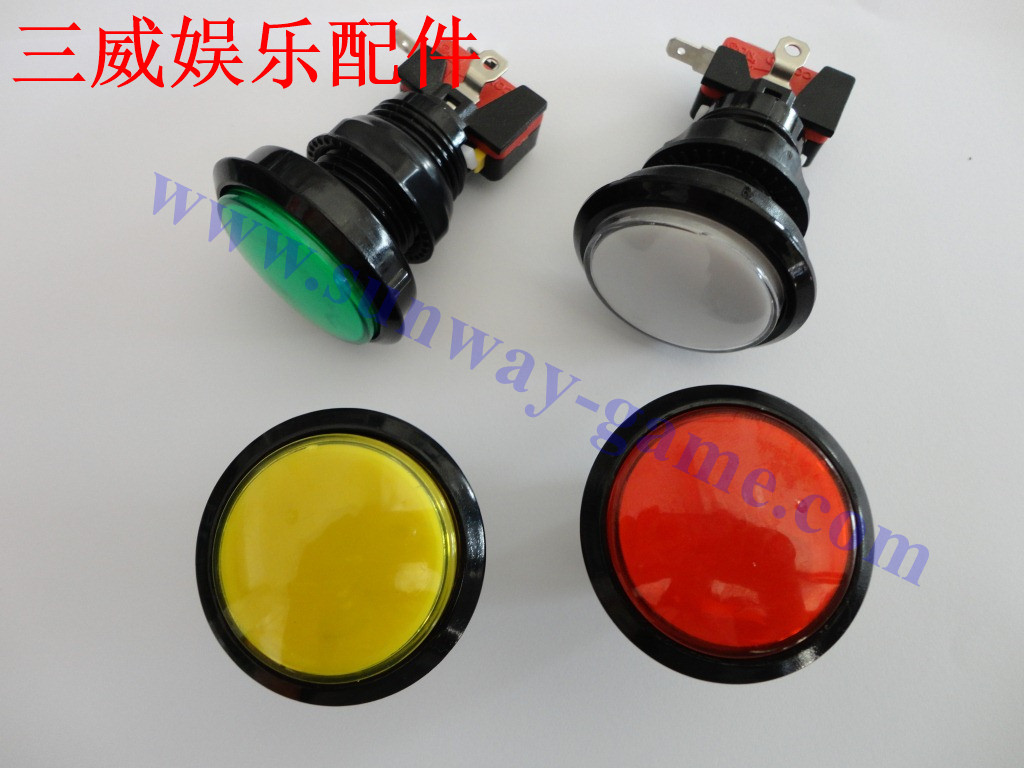 Large video game accessories new medium with light in the spin round round button switch button button 46mm