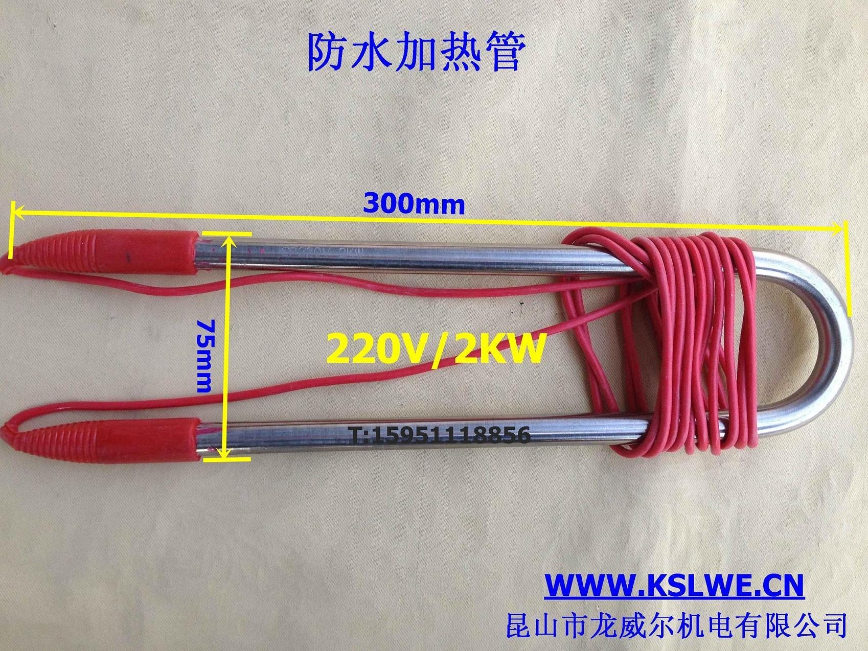 Tubo de acero inoxidable sellado impermeable de calefacción eléctrica de 220V / tubo de buceo 3kw 2kw / calentador de agua