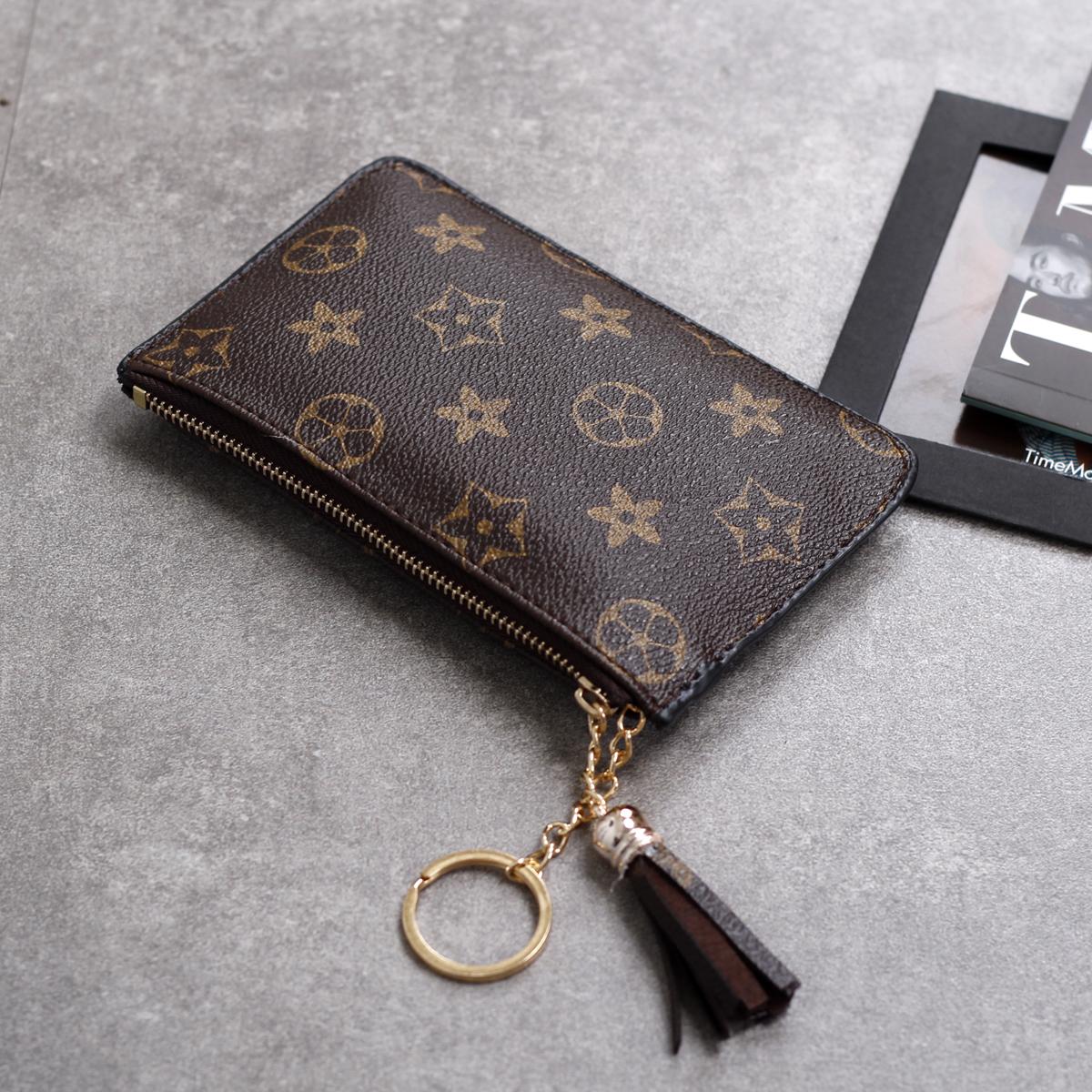 老花女包零钱包多卡位卡包女式韩国卡片包迷你超薄钱包名片夹卡套