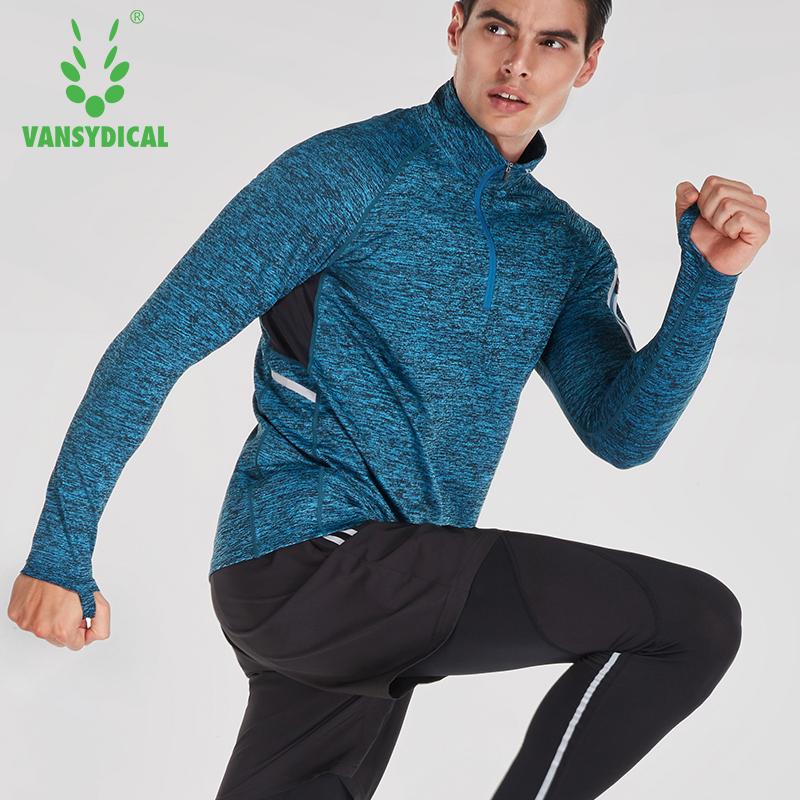 Fitness suit men's zipper long T Van Siddiq long sleeve fast dry windproof fashion sports man 2017 new style stretch