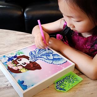 儿童钻石画贴画 粘贴手工diy制作材料包教师节礼物女孩小学生玩具