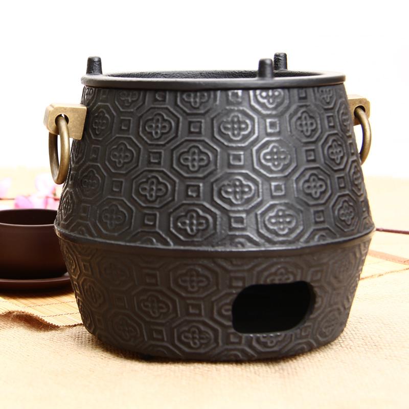 железный чайник уголь печи Японии чугун самовар в чайной церемонии вода кипит стальгорн ручной ретро древесный уголь, отопление, ветер печи специальный чайный сервиз