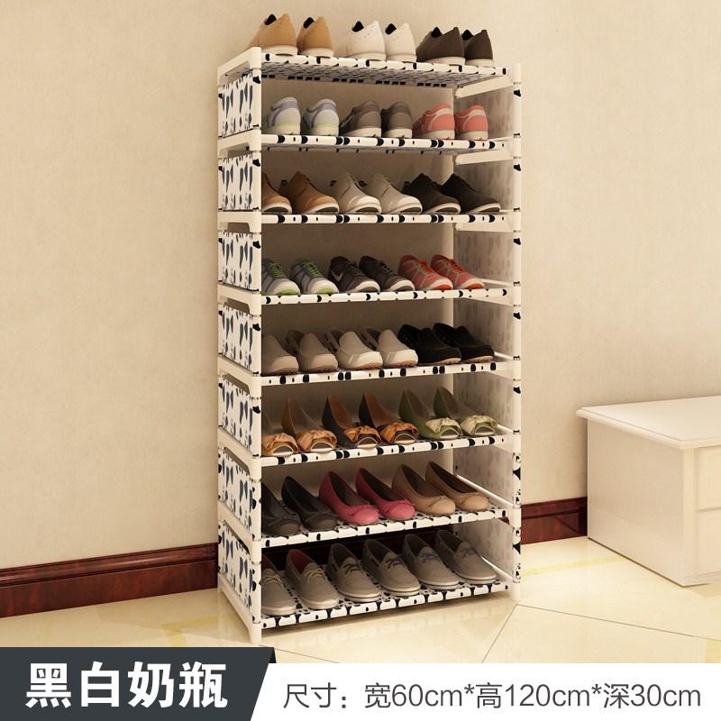 The multilayer shoe shoe storage rack assembly simple household special offer modern minimalist shoes shelf storage wood dust