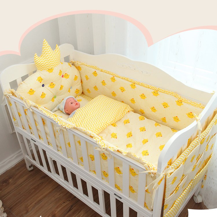 Washable cotton Crib Bedding around 46 sets of cotton baby bed around the infant bedding