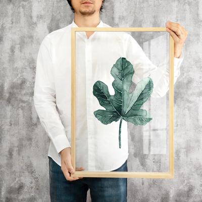起贝 北欧ins 挂画 透明画卧室客厅壁画餐厅绿植画有机玻璃装饰画