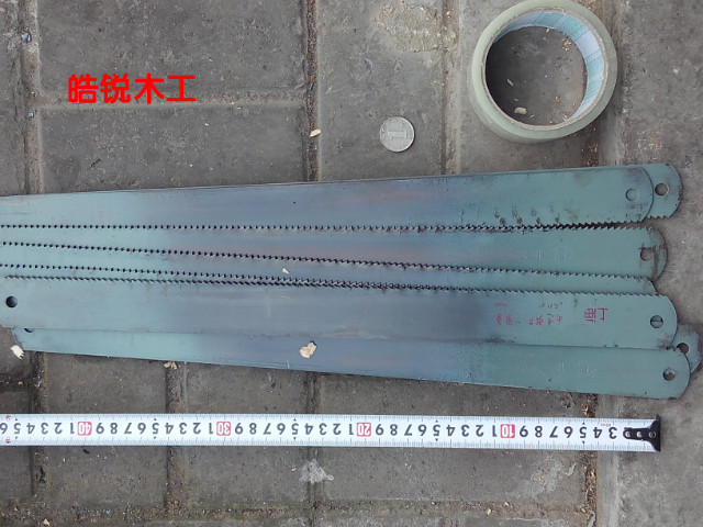 Wind steel saw blade, blade with Benxi steel blades, hacksaw frames embryo, old goods card machine.