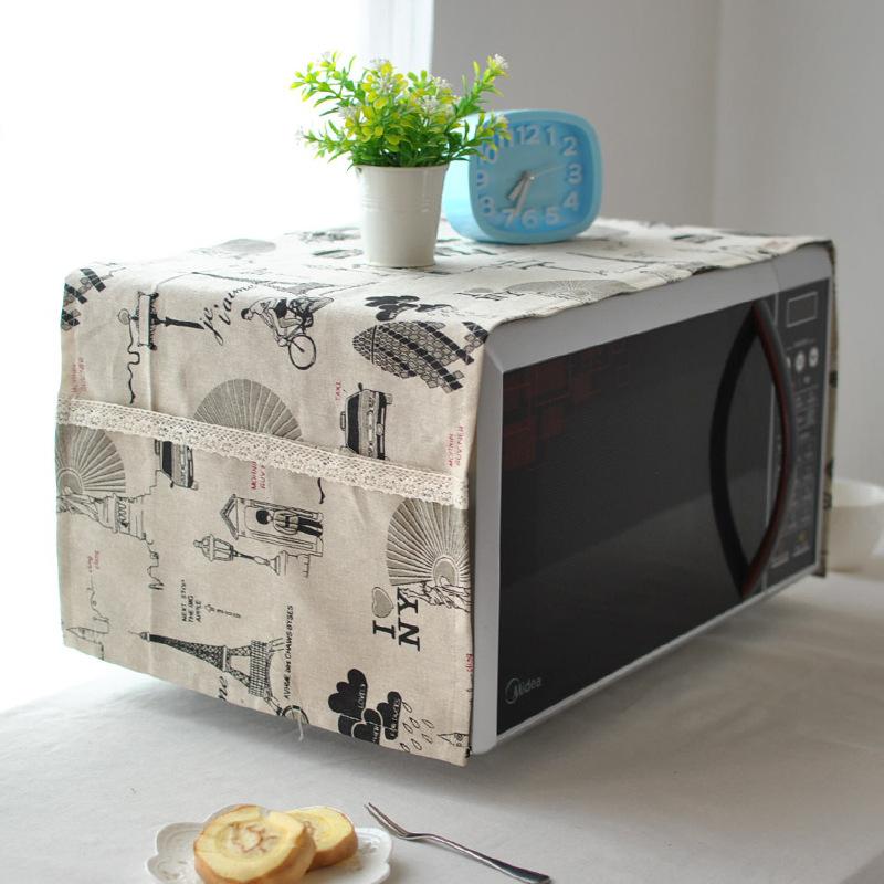 田園の布カバーギャランツ電子レンジを厚くして美の電子レンジ反油盖布オーブン防塵カバー盖巾