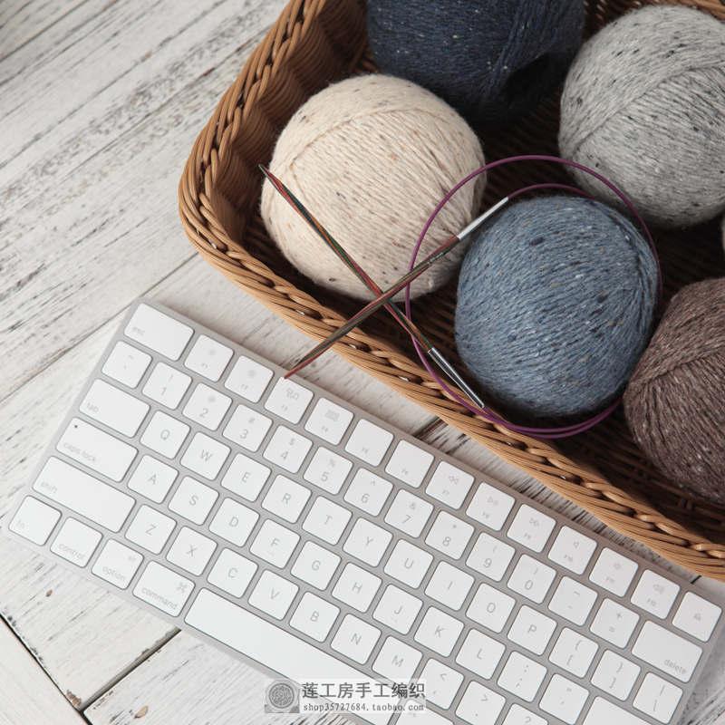 [Tous les jours à queue de sortie spécial] laine tweed en ligne épaisse jacquard chapeau écharpe