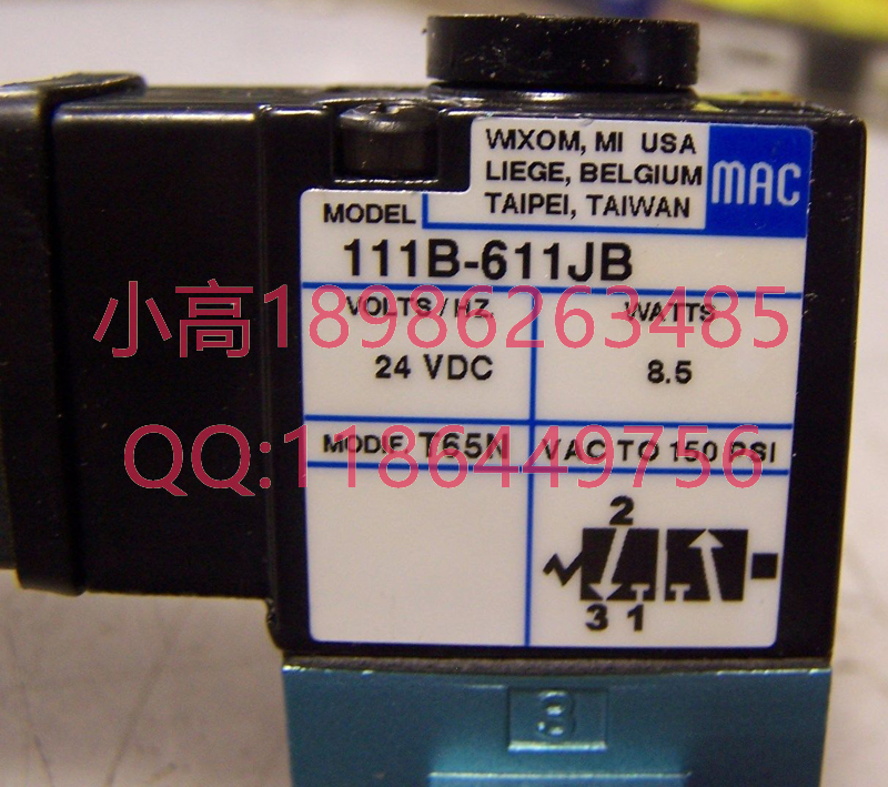 La válvula de solenoide de Estados Unidos de Mac 111B-611JB original auténtico falso a perder