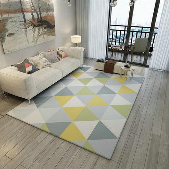 北欧のシンプルな現代的なリビングルームのソファーのベッドルームの絨毯の寝室のベッドルームベッドルームは洋式イケアの大きいじゅうたんの絨毯