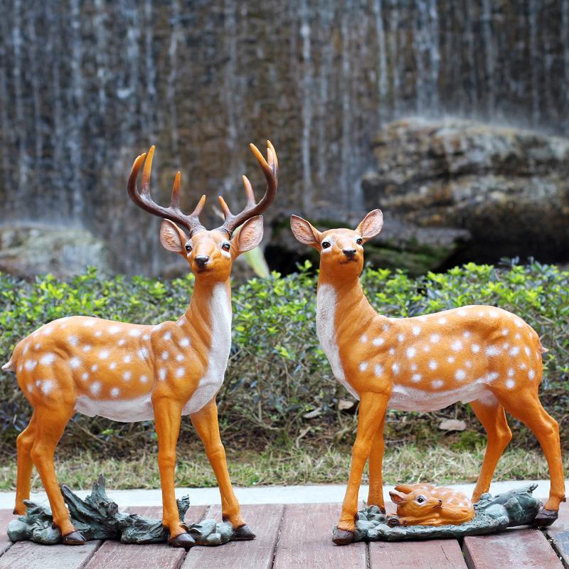 Garten - simulation der Glas - Stahl - skulptur tiere großen Hirsch zur dekoration für den Garten, Hochzeit einen Park - landschaft