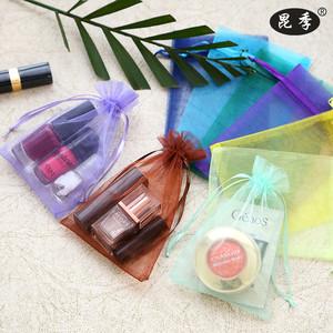 束口糖果包装纱袋礼品袋首饰袋化妆品试用妆袋透明纱袋透明礼品袋