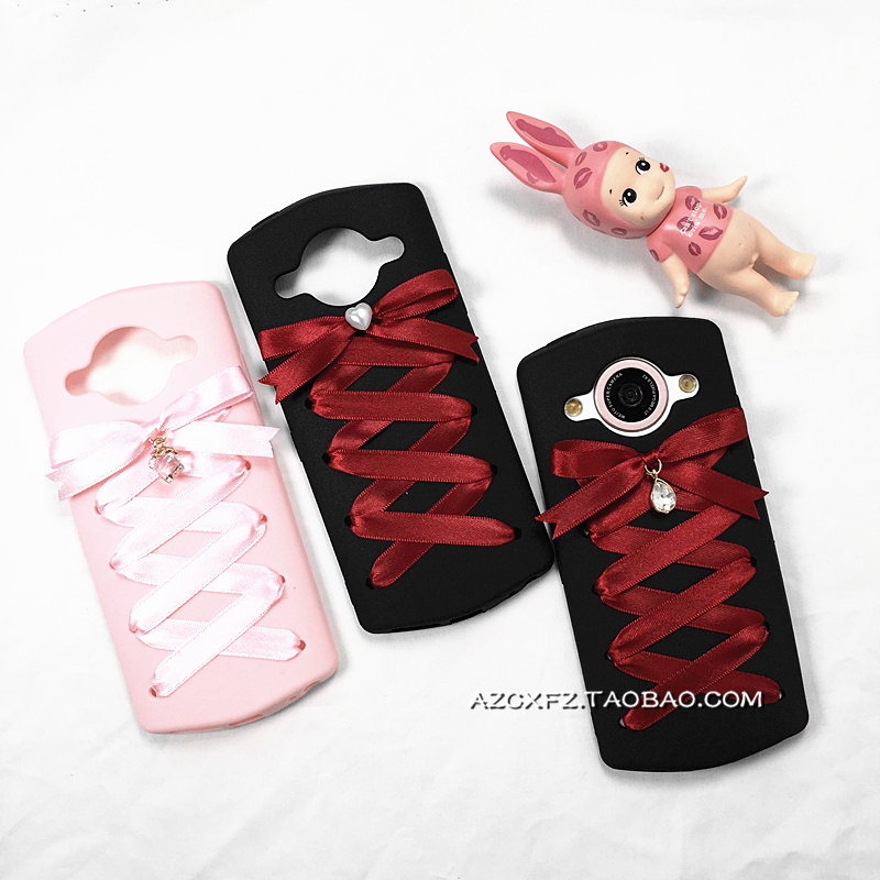Young sister Lolita softhearted Diablo series Mito M4/M6/T8 love bow ribbon band mobile phone shell