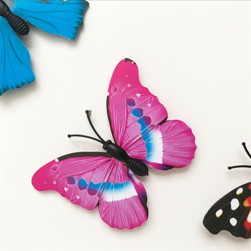 3D Butterfly Tile Selvklæbende Wall Sticker Room Wall Decoration Room Skab Køleskab Kitchen Sticker