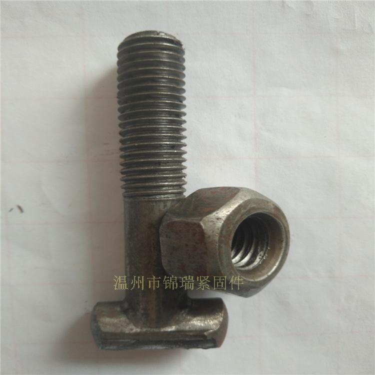 Building fastener screw, T shape square bolt, nut lengthening nut, thickening M12 steel pipe card M12X71mm length