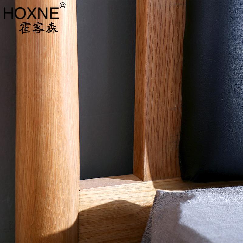 Huo Kesen Nordic simple wood back modern Japanese white oak furniture 1.51.8 meters double bedroom