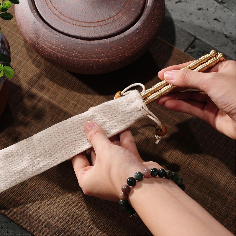 Чаочжоу господин Чэнь ручной зажим углерода уголь печь чисто латунь палочки огонь палочки древесный уголь оливковое углерода кунг - фу 茶夹 щипцы
