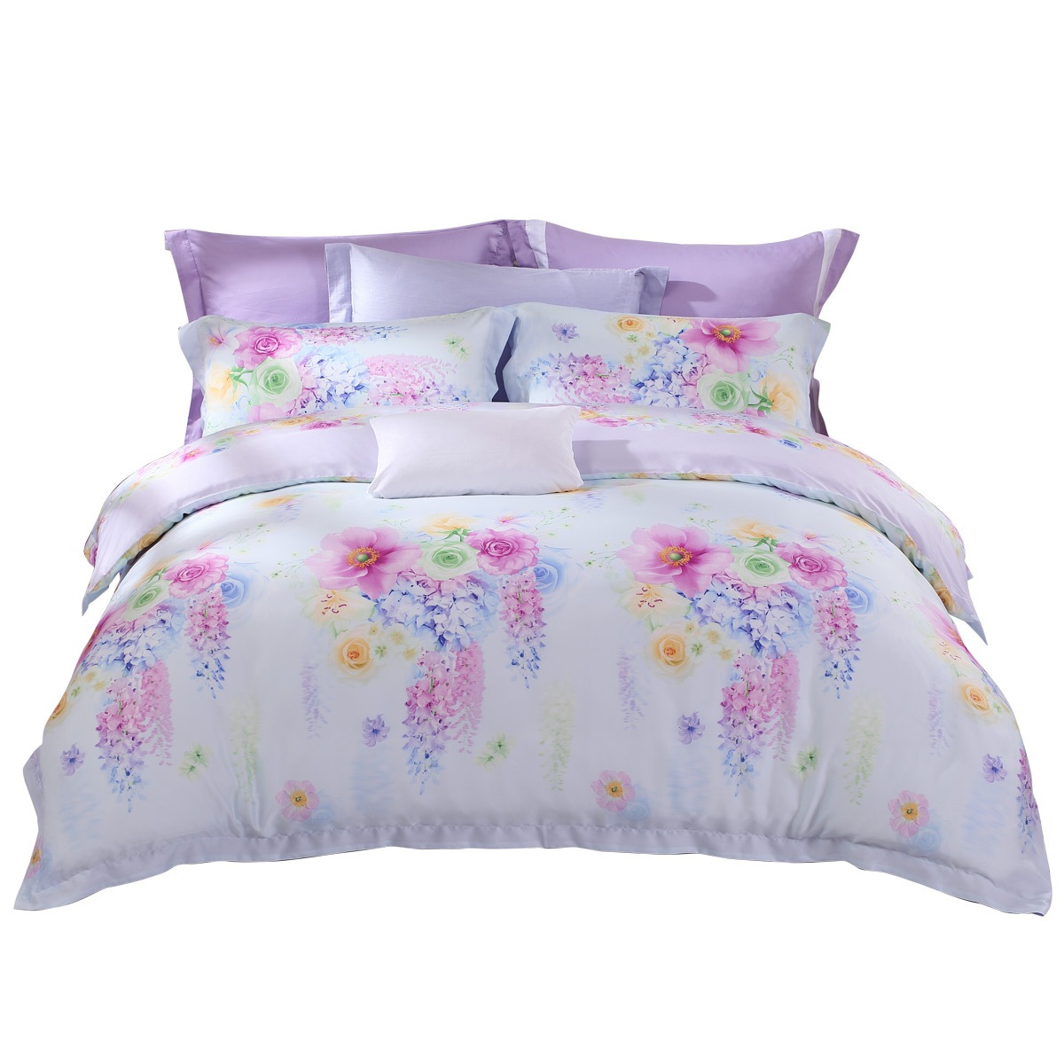 Mercury textile genuine Tencel Satin printing four pieces of 1.8 bed Lafite summer cotton satin bed 2017