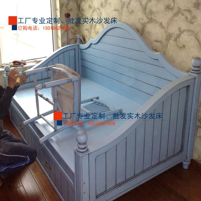 tovarna običaj sredozemski stil masivnega lesa na kavču, sedel v postelji, shranjevanje pritisni posnemanje z predale.