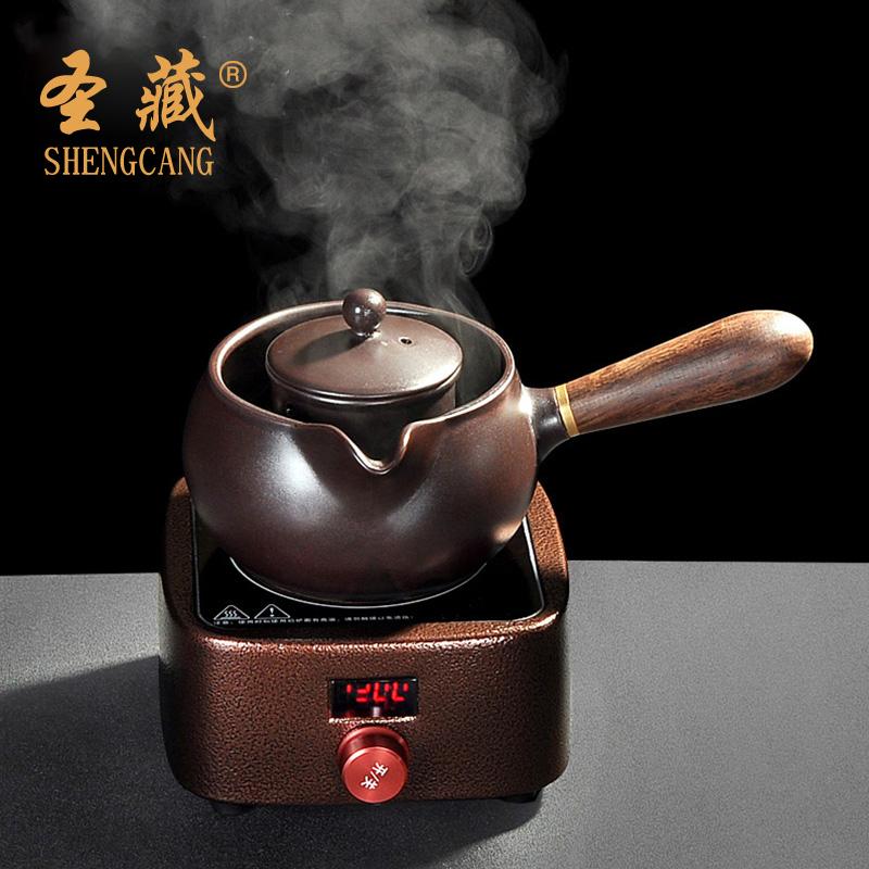 Saint - depósito de un horno eléctrico de cerámica la cerámica hervir el té Pu - erh taza tetera mini hogar del kung fu