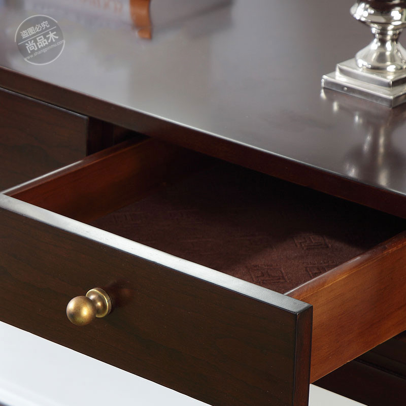 La table nouvelle chinois de table de toilette de la famille Club Hotel de bord en bois massif de table de toilette d'un bureau simple