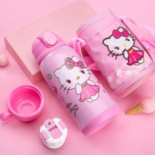 儿童保温杯带吸管两用宝宝防摔水壶幼儿园学生不锈钢女水杯