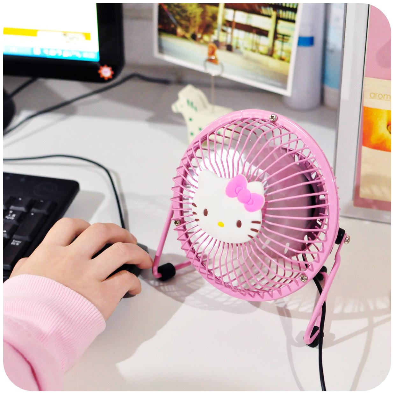 Super quiet cute mini fan, student dormitory office desktop, small desktop fan, USB Fan sprout