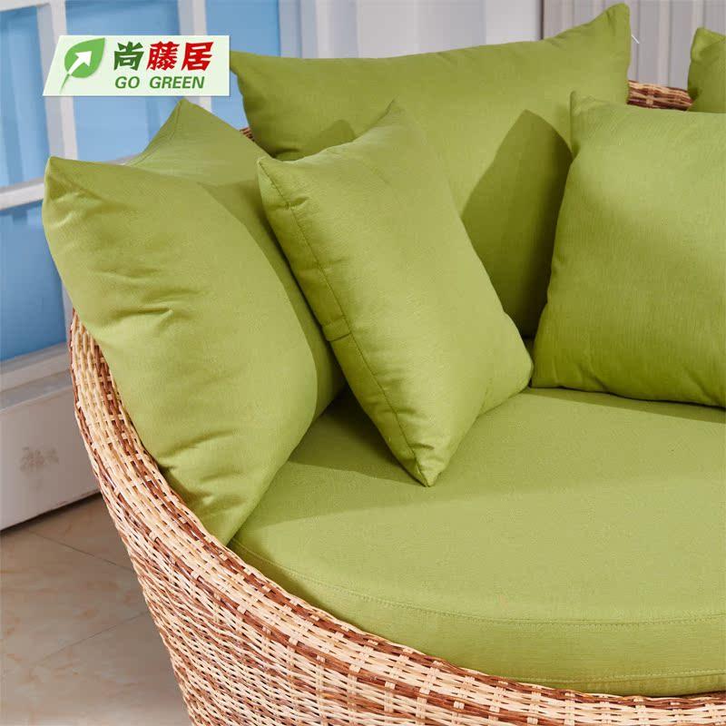 δημιουργική κρεβατοκάμαρα μπαλκόνι κυκλική καρέκλα καναπέ συνδυασμός μπαμπού μικρό διαμέρισμα ο καναπές κρεβάτι όλο το διπλό στο σαλόνι