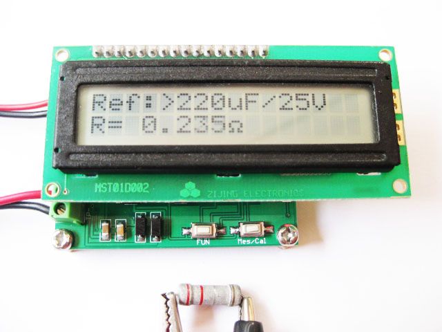 Esr Meter For Batteries : New battery internal resistance tester esr