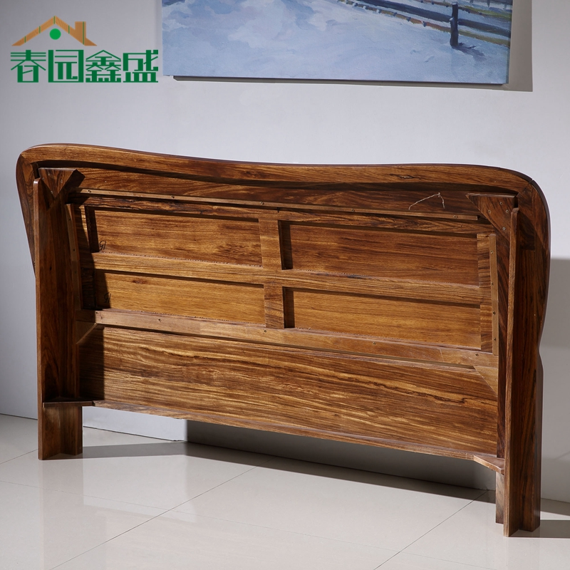Holomorphic solid wood bed zingana wood 1.8 meters 1.5 meters high double box storage bed furniture to bedside cabinets