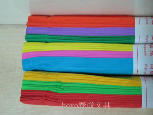 Handmade crepe paper handmade paper material color art paper crumpled paper cutting students wrinkly paper origami origami bright
