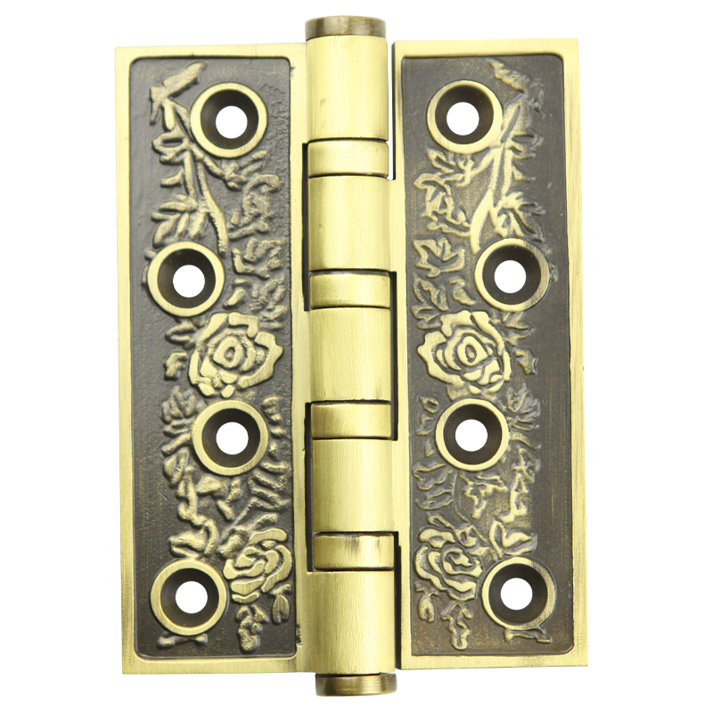 Huaguang European style classic black copper pure copper 4 inch hinge, high-end home door hinge, a pair of 2 pieces