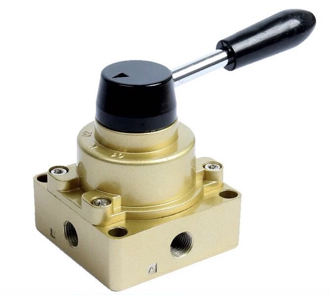 HV-200-02D/B three position four way hand turning valve, one in, two out manual valve switch, reversing valve switch valve