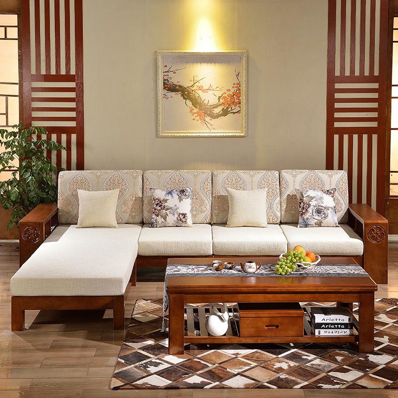 木造組み合わせ伸縮ツイラ併用回転ソファーソファーベッド中国貴妃オークの多機能家具ソファー
