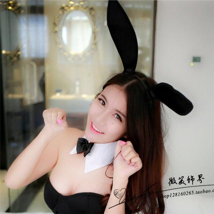 Вечеринка в ночном клубе преувеличение атласные кролик кролик уши обруч головной убор загадочной девушки украшения, рождественские украшения, пасхальные голову
