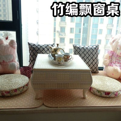 Japanese tatami wood table table table window Kang several bed computer desk multifunctional folding table table
