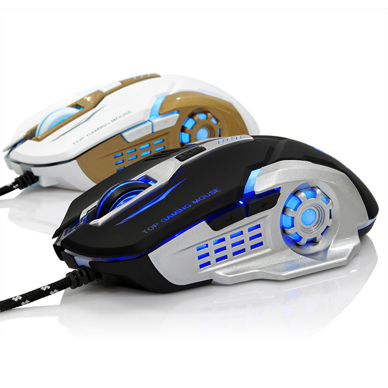The new mechanical gaming mouse CF lol Internet cafes dedicated gaming computer game cable luminous macro definition