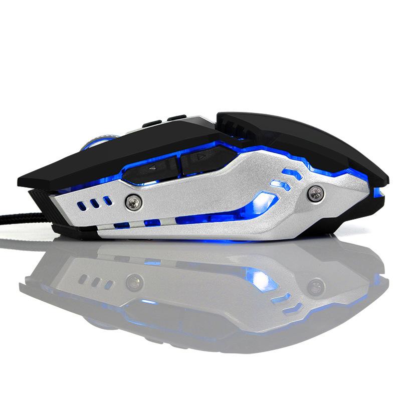 新型ゲーム機械マウスcf専門电竞差有線発光マクロ定義金属基板を強める
