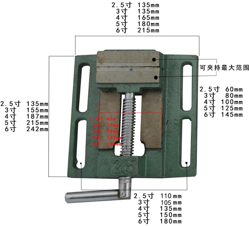 O vice - 2.5-8 polegadas embalagem máquina de Prensa de Madeira Pequena morsa, morsa simples alicate Prensa