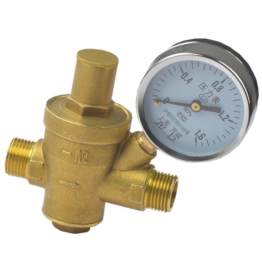 4 points tap water pressure reducing valve, constant pressure valve, water heater, water purifier with 4 extra silk pressure reducing valve, with pressure