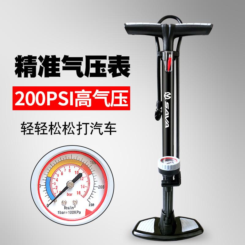 ปั๊มแรงดันสูง SAVA จักรยานใหม่ของรถยนต์ไฟฟ้าในครัวเรือนบาสเกตบอลฟุตบอลพองหลอดแบบพกพา .