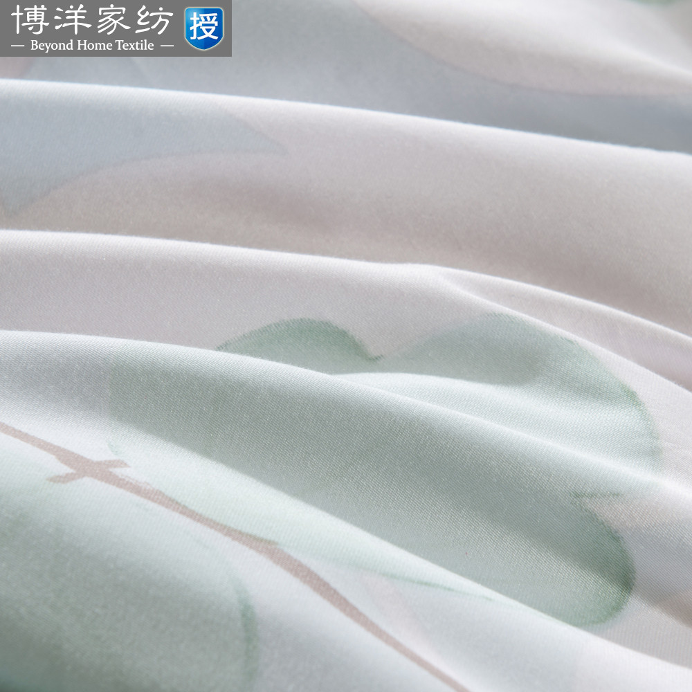 Bo Yang textile bedding Tencel four piece leaf sheets Ying Cui flower new kappa flow